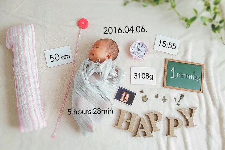 エコー写真と初♡記念写真【1ヶ月】
